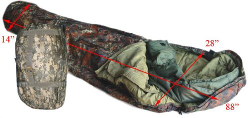 US Army Style Modular Sleeping Bag Blanket System–ACU, Outdoor Stuffs