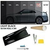 Rotolo pellicola oscurante anti sole per finestre e vetri di auto parasole casa ufficio scura - Pellicola oscurante vetri casa ...