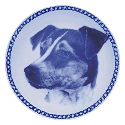 Danish Swedish Farmdog - Dog Plate made in Denmark from the finest European Porcelain. Premium Quality and Design from Lekven. Perfect Gift For all Dog Lovers. Size - 7.61 inches.