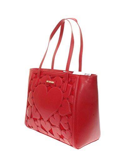 Love Moschino Intarsia shopping bag red