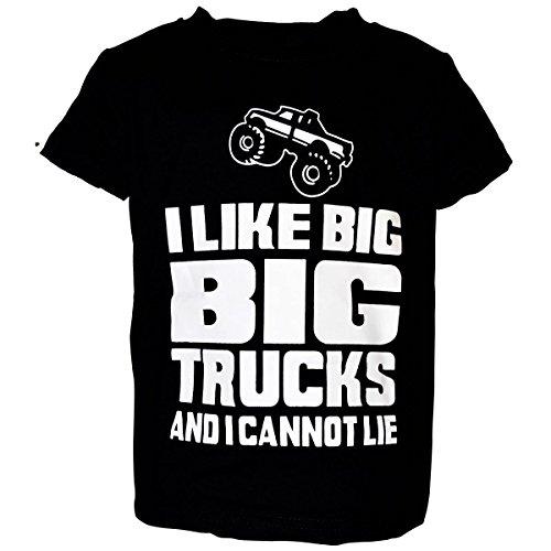 "Unique Baby Unisex ""I Like Big Trucks"" Shirt (Truck Applique T-shirt)"