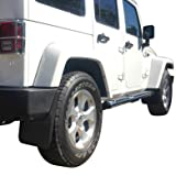 Premium Heavy Duty Molded 2007-2017 Jeep Wrangler JK JKU Mud Flaps Guards Splash Flares Front Rear 4pc Set
