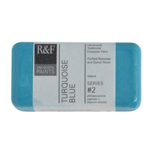 - R&F Encaustic 40ml Paint, Turquoise Blue