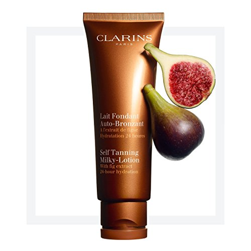 CLARINS Self Tanning Milky-Lotion With Fig Extract 24 Hour Hydration Full Size 125 mL / 4.2 Oz. Factory Sealed In Retail Box
