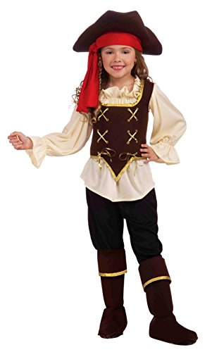 [Forum Novelties Buccaneer Girl Costume, Child Large] (Bandit Child Costumes)