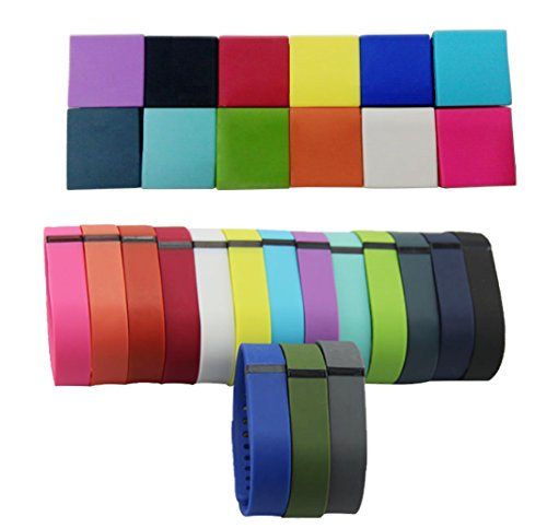 Attmu Silicone Fasteners for Fitbit Flex Wristband Secure Your Wristband in Style, Set of 12