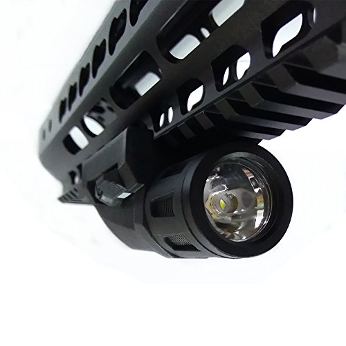 FIRECLUB 400 Lumens Multi-Function Tactical Mounted Light, White (Black)