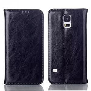 Luxury Crazy Horse Design Genuine Leather Case For Samsung S5 i9600