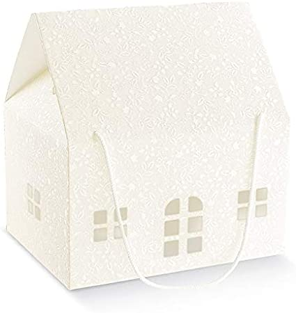 Formoso Caja para Sobres Boda casita Harmony Blanco 33 x 25 x 19 ...