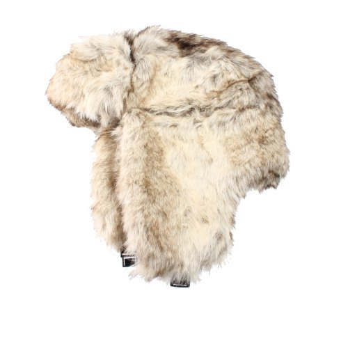 Accessoryo Women's Luxury Faux Fur Trapper Hat One Size Beige