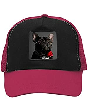Unisex Dog Red Adjustable Classic Hiphop Hat Baseball Cap Snapback Dad Hat