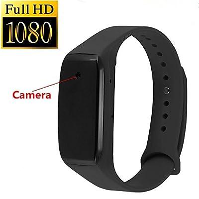 SpyGear-WNAT Mini 1080P HD Spy Dvr Hidden Camera Intelligent Bracelet Camcorders Audio Video Recorder DV Cam Black - WNAT