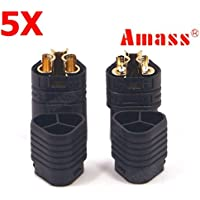 New 5 Pairs Amass MT60 Three-hole Plug Connector Black Male & Female By KTOY