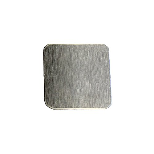 Square Stamping Blanks - RMP Stamping Blanks, 1 Inch Square W /Rounded Corners, Aluminum .063 Inch (14 Ga.) - 50 Pack
