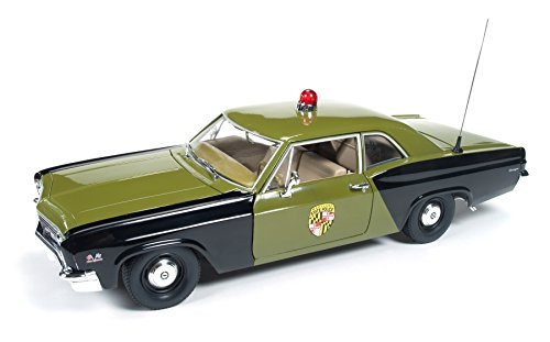 Chevrolet Biscayne Engine - 1966 Chevrolet Biscayne Maryland State Police Car 1/18 Limited to 1500pc Worldwide by Autoworld AMM1030
