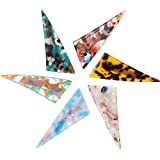 Souarts 6PCS Resin-Hair-Clip Hair Clips for Women Triangle Leopard Print Hair Barrettes Women Girls Resin Acrylic Vintage Alligator Hair Clips Hair Accessories