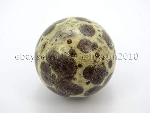 FidgetGear Natural Gemstone Round Ball Crystal Healing Sphere Massage Rock Stones 30mm 40mm 30mm 1 Piece Leopard Skin Jasper