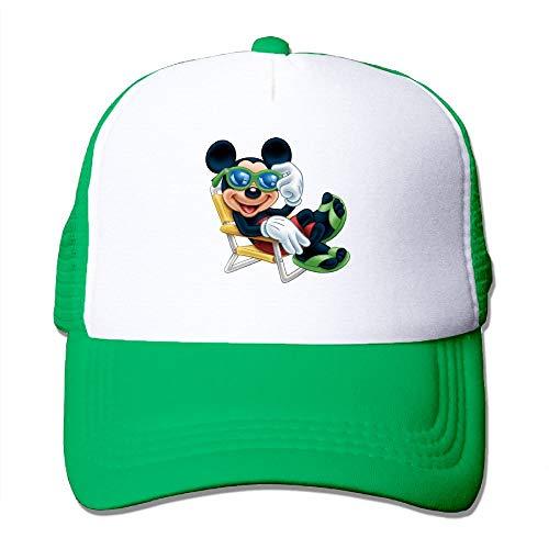 (Shenigon Cute Mickey Sun Protection Adjustable Caps Cooling Mesh Hat KellyGreen)