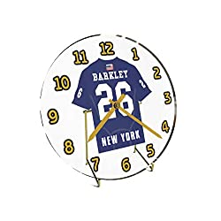 SAQUON Barkley 26 New York Giants Desktop Clock - National Football League Legends Edition !! Dark Blue