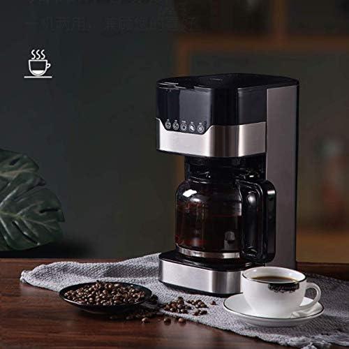HYLH Machine à café Filtre, cafetière 1.5L Cafetière Goutte à Goutte Intelligente programmable 24h avec écran LCD Carafe Thermique en Verre Filtre Permanent