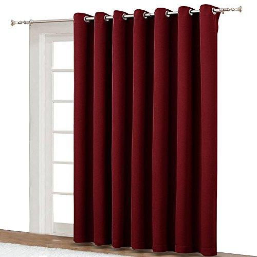 NICETOWN Blackout Blinds for Sliding Door - Indoor Slider Cu