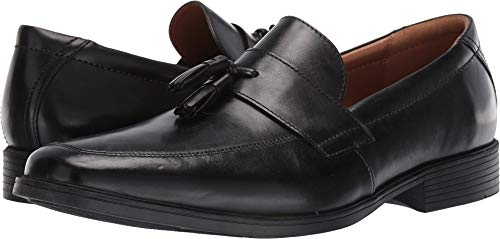 (CLARKS Men's Tilden Stride Loafer, Black Leather, 100 M US)