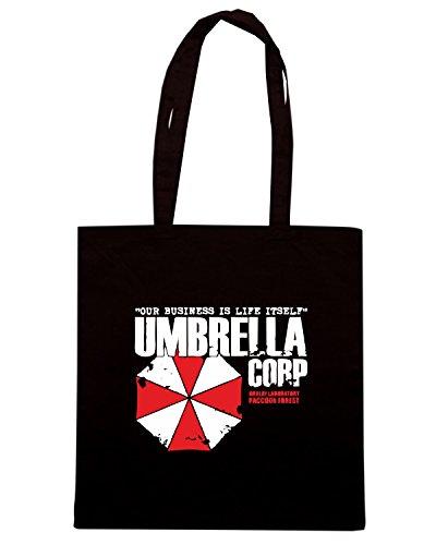 T-Shirtshock - Bolsa para la compra TGAM0078 Umbrella Corporation Negro