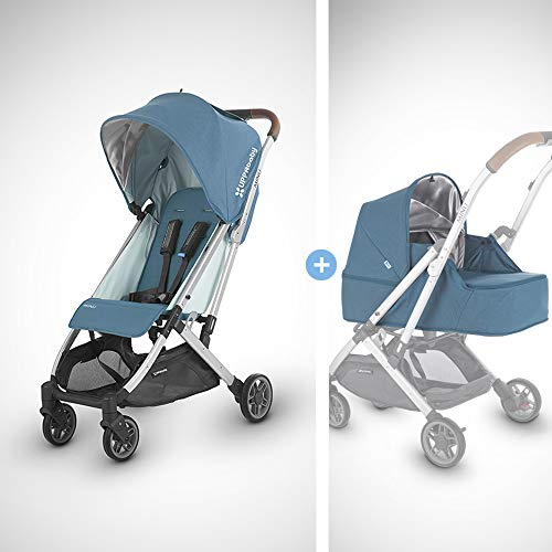 UPPAbaby MINU Stroller +from Birth Kit - Ryan (Teal Melange/Silver/Saddle Leather)