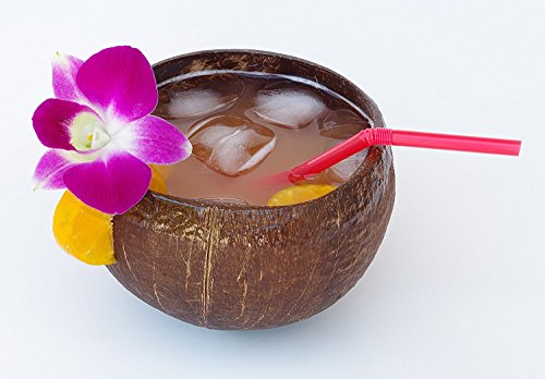 Hawaiian Candle & Bath – Coconut Scented Soy Candle in Real Coconut Shell, 16oz, Hand Poured