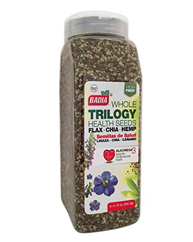 21 oz Trilogy Seeds Whole Flax, Chia & Hemp Health Seed/Linaza, Cañamo