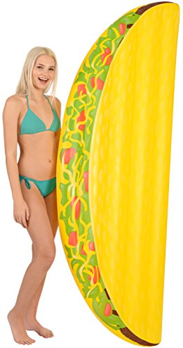 Coconut Float Pool Floats; Taco Pool Raft, 6.5 Ft.]()