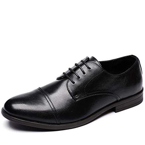 Jivana Men's Dress and Casual Oxfords, Lace Up Dress Shoes with Shoe Horn, PU