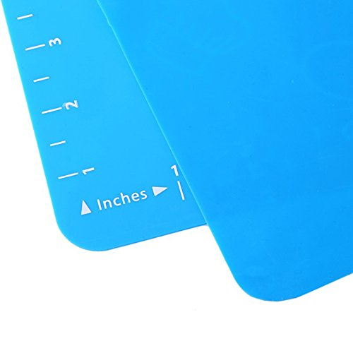 ALTRUISM Non Stick Silicone Baking Mat Kneading Dough Mat Baking Rolling pastry Mat Bakeware Liners Pads Cooking Tools (1, Blue)