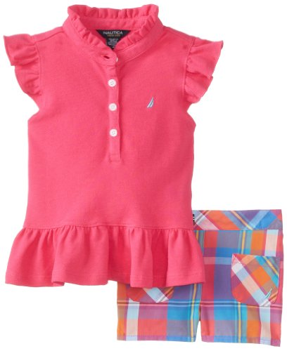 Nautica Girls 2-6X Plaid Short Set
