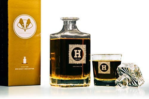 Personalized Whisky Decanter & Whiskey Glass Combo Lead Free : The Heirloom by Swanky Badger (Image #7)