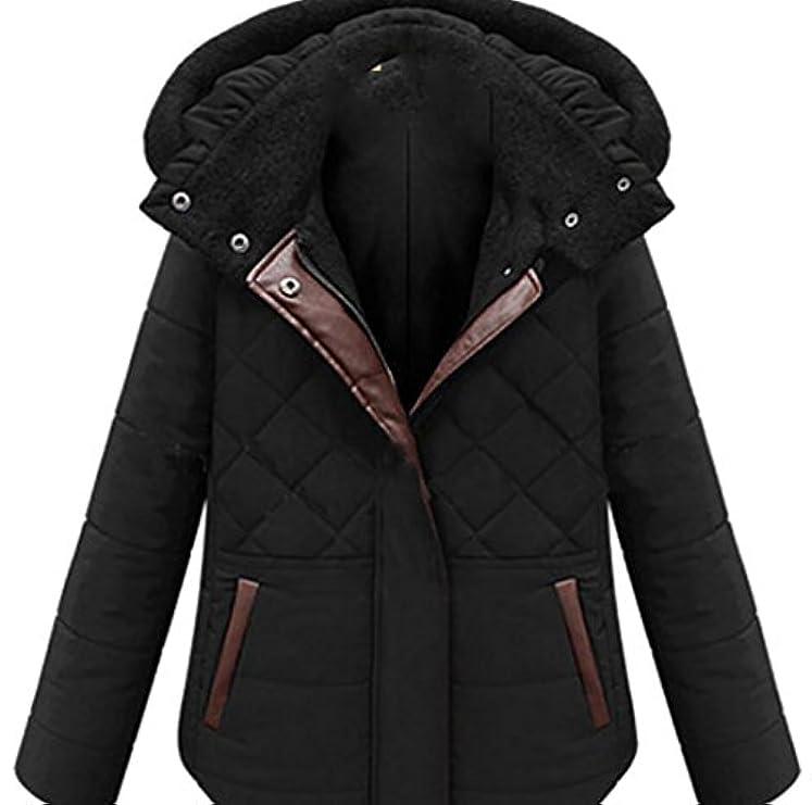 Women Con Casual Warm Trapuntato Addensare Jacket Tasche Coat Cappuccio Down Rrive tF7w1xF