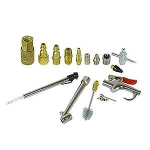 Air Accessory Kit | 18pc Pneumatic Brass Compressor Hose Blow Gun Tool Set
