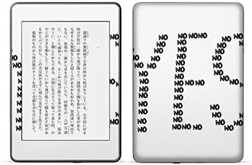 igsticker kindle paperwhite 第4世代 専用スキンシール キンドル ペーパーホワイト タブレット 電子書籍 裏表2枚セット カバー 保護 フィルム ステッカー 016068 YES 文字 おしゃれ