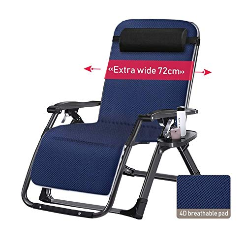 (Zero Gravity Chairs Extra Wide Patio Lawn Padded Recliner Sun Lounger, Zero Gravity Chair Oversize for Heavy Duty People, Support 440lbs)