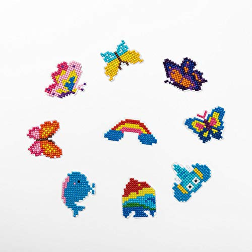 Diamond Painting Kits for Kids, 5D Diamond Painting Arts and Crafts Kits Embroidery Cross Stitch for Home Decor Craft ( 9pcs/set)