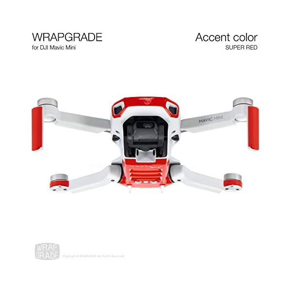 WRAPGRADE Colore di Accento Skin Compatibile con DJI Mavic Mini (Super Red) 2 spesavip