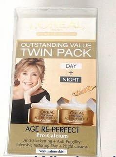 LOreal Age Re-Perfect Pro-Calcium Día y Crema de Noche - Twin ...
