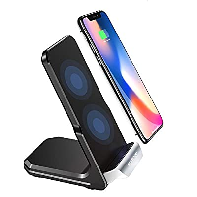 steanum Qi Caricatore Wireless, 10W Fast Wireless Charger Rapida Caricabatterie Compatibili per iPhone XS Max/XS/XR/X, iPhone 8/8Plus,Note 9/8/5, Galaxy S9/S8/S7/S6