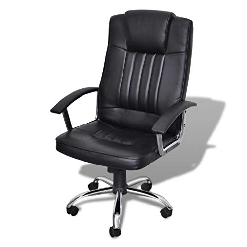 Wrea Luxury Office Chair Height Adjustable Swivel Seat Black