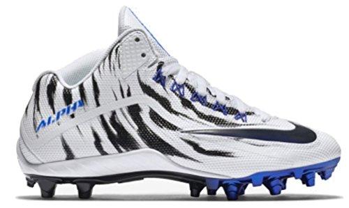 Nike Herren Alpha Pro 2 Fußballschuh Weiß / Racer Blau-Schwarz