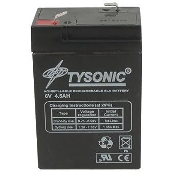 Amazon.com: Tysonic TY-6 – 4,5 Batería recargable, Sealed ...