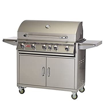 Bull Outdoor Products BBQ 55001 Brahma 90,000 BTU Grill with Cart, Natural Gas