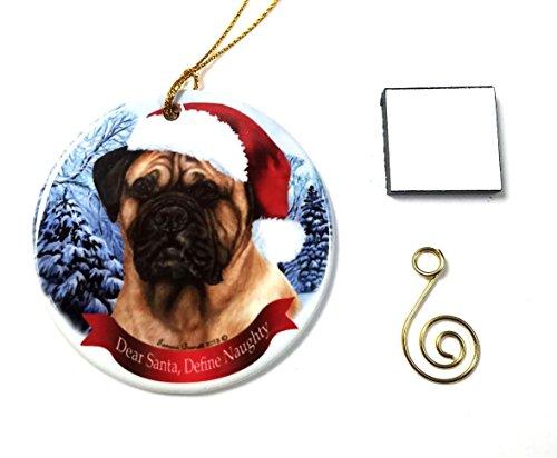 Bullmastiff, Fawn Christmas Ornament 3