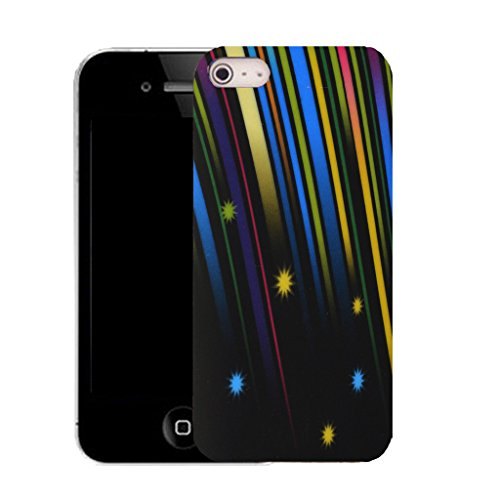 Mobile Case Mate IPhone 4 clip on Silicone Coque couverture case cover Pare-chocs + STYLET - falling star pattern (SILICON)