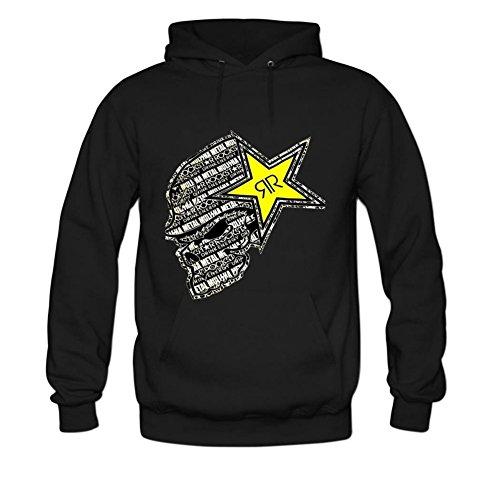 Women's Rockstar Energy Long Sleeve Sweatshirts Hoodie XL Black (Rockstar Energy Hoodie compare prices)